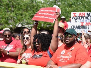 On May Day in North and South Carolina, education workers strike by the thousands